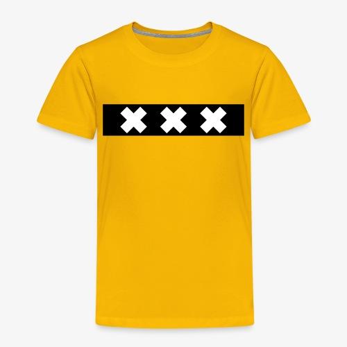 Amsterdam XXX flag souvenir - Kinderen Premium T-shirt