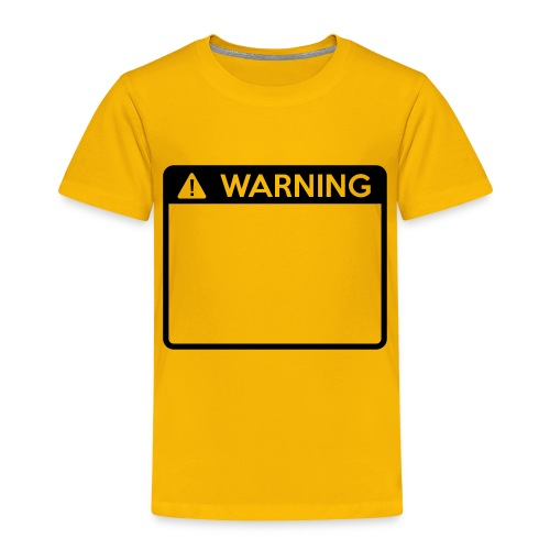 Warning Sign (1 colour) - Kids' Premium T-Shirt