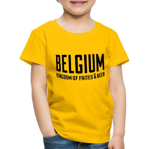 Belgium kingdom of frites & beer - T-shirt Premium Enfant