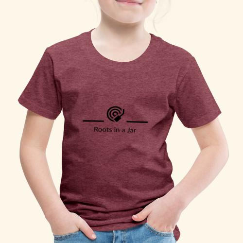 Roots in a jar logo - Premium-T-shirt barn