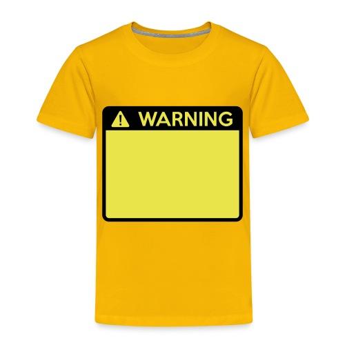 Warning Sign (2 colour) - Kids' Premium T-Shirt