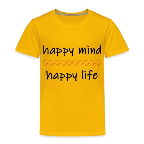 happy mind - happy life - Kinder Premium T-Shirt