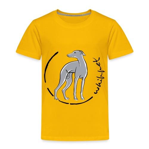 whippet trait bleu - T-shirt Premium Enfant