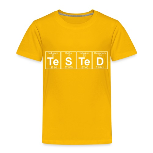 Te-S-Te-D (tested) (small) - Kids' Premium T-Shirt