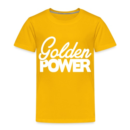 GoldenPower Logo V2 white png - Kinderen Premium T-shirt