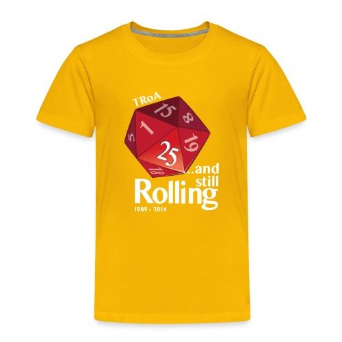 TRoA 25 år - Rød terning - Børne premium T-shirt