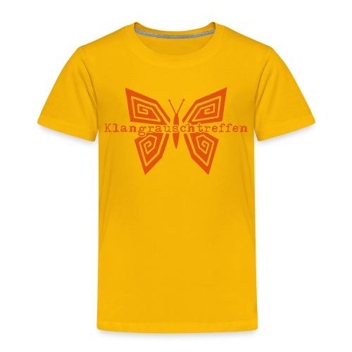 KlangRauschTreffen Schmetterling mit Schrift - Kinder Premium T-Shirt