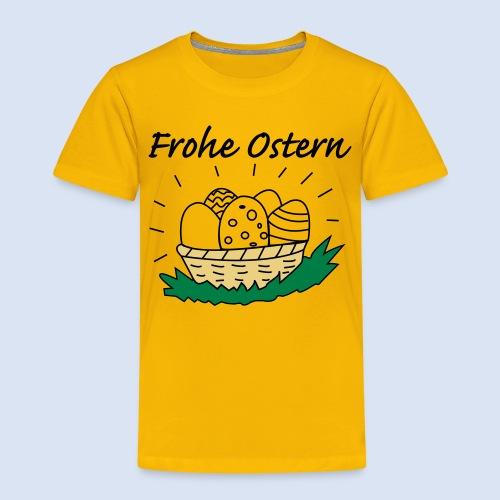 Eierkorb Oster Design - Frohe Ostern - Kinder Premium T-Shirt