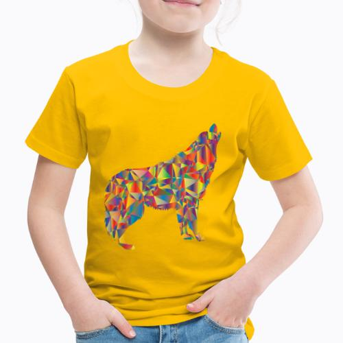 howling colorful - Kids' Premium T-Shirt