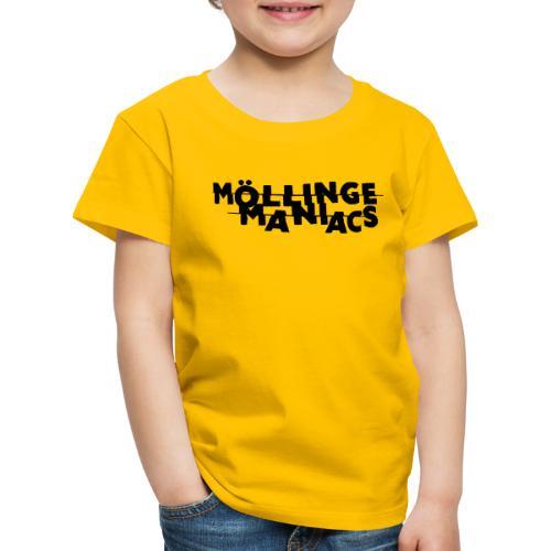 Möllinge Maniacs svart logga - Premium-T-shirt barn