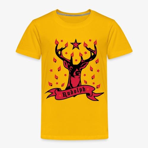 Stolzer Hirsch Rudolph 3c Stern Lichter Glamour - Kinder Premium T-Shirt