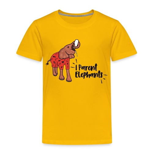 I Parent Elephant - Kids' Premium T-Shirt