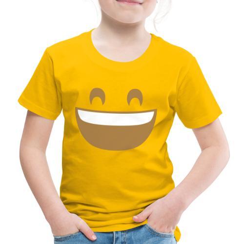 Emoji grinning face with smiling eyes print - Kids' Premium T-Shirt