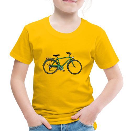Grünes Fahrrad Bike - Kinder Premium T-Shirt
