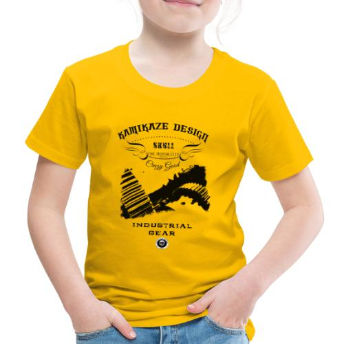 Skull Industrial gear - Kinder Premium T-Shirt