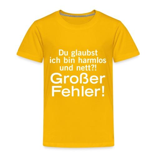 harmlos nett lieb großer Fehler Irrtum Gefahr wild - Kids' Premium T-Shirt