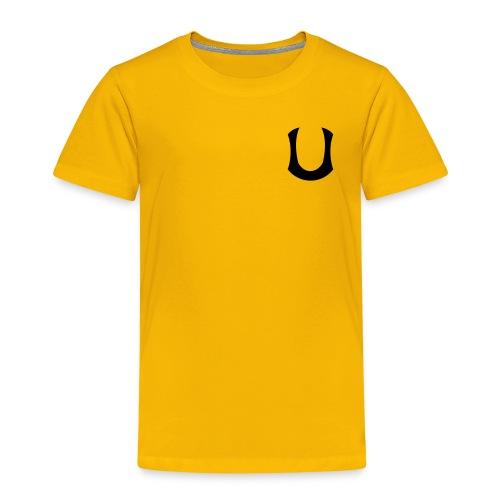 u-merkki_ musta - Lasten premium t-paita