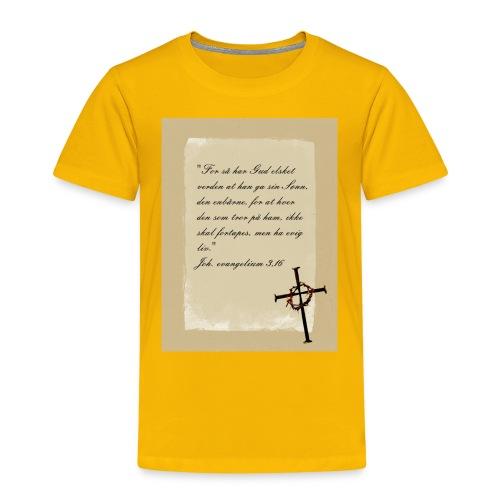 kors 23 skrift jpg - Premium T-skjorte for barn