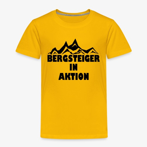 Bergsteiger in Aktion - Kinder Premium T-Shirt