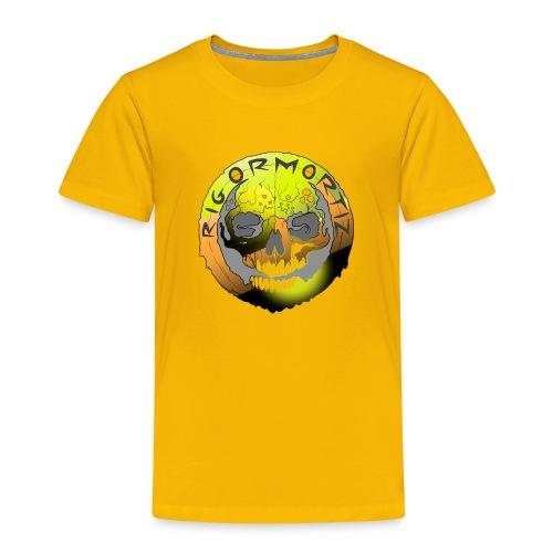 Rigormortiz Metallic Yellow Orange Design - Kids' Premium T-Shirt