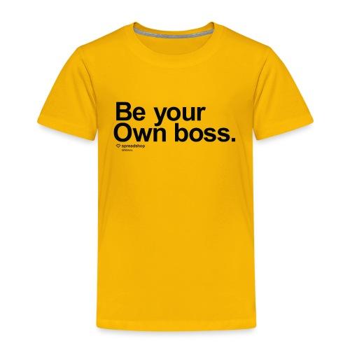 Boss in black - Kids' Premium T-Shirt