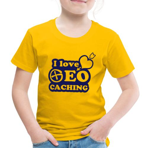 I love Geocaching - 1color - 2011 - Kinder Premium T-Shirt