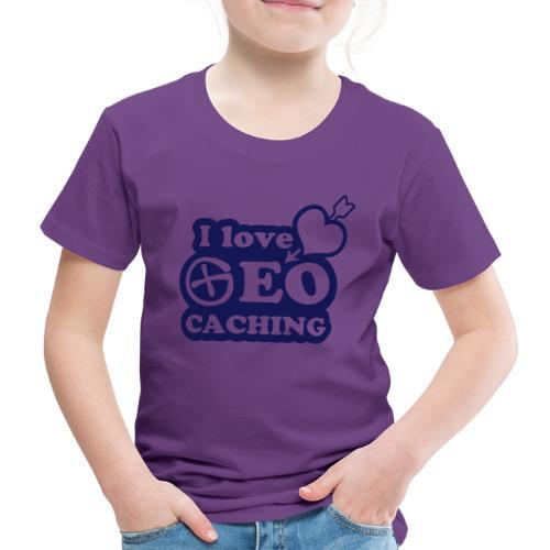 I love Geocaching - 1color - 2011 - Kinder Premium T-Shirt