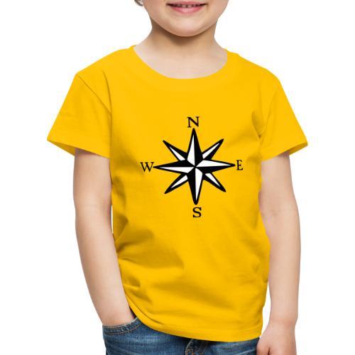 Windrose mit Himmelsrichtungen Segeln Segler - Kinder Premium T-Shirt