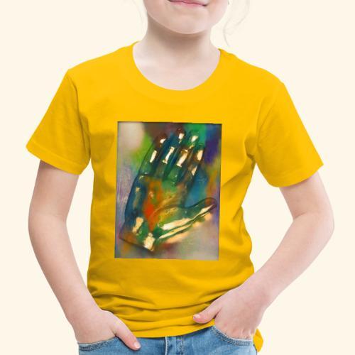 Hand in bunt - Kinder Premium T-Shirt
