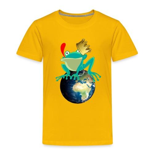 Froschkönig König der Welt Frosch - Kinder Premium T-Shirt
