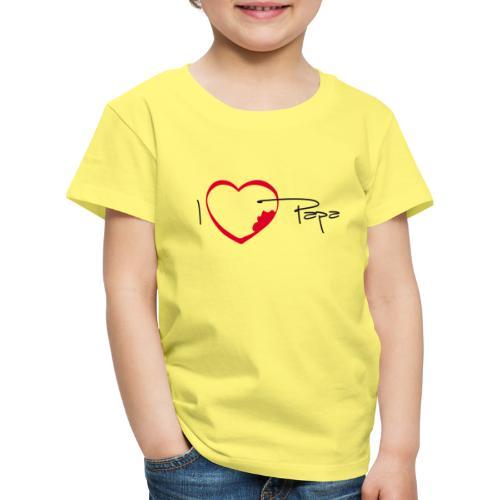 I love papa - T-shirt Premium Enfant