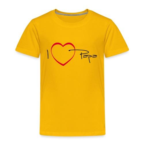 I love papa - 15 graph - T-shirt Premium Enfant