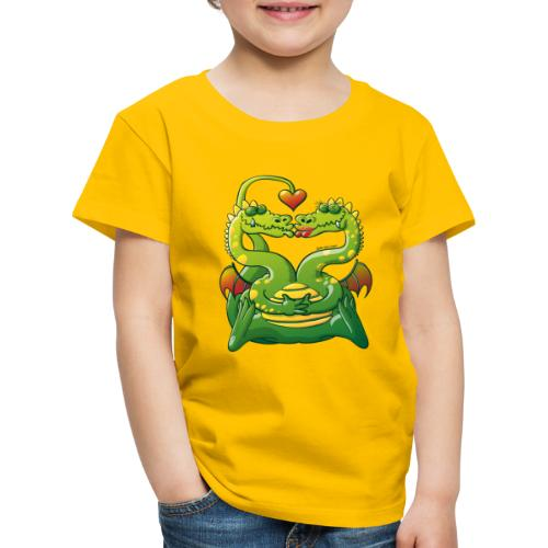 Dragons Madly in Love - Kids' Premium T-Shirt