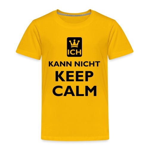 KEEP CALM kann nicht / dein text - Kinder Premium T-Shirt