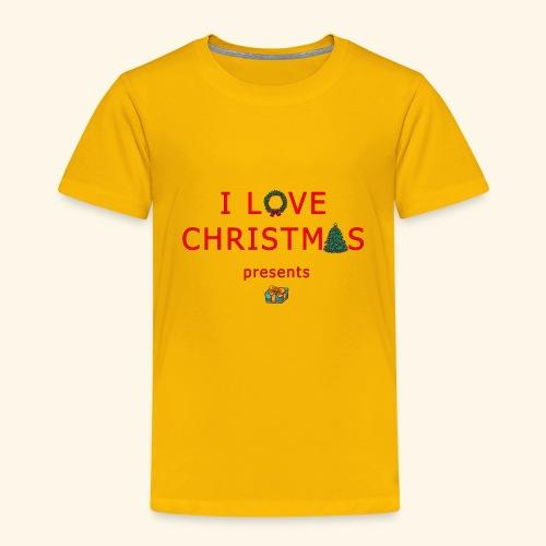 I love christmas presents - Kids' Premium T-Shirt
