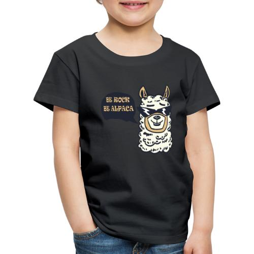 be Rock be Alpaka - Maglietta Premium per bambini
