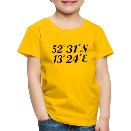 Berlin Koordinaten - Kinder Premium T-Shirt