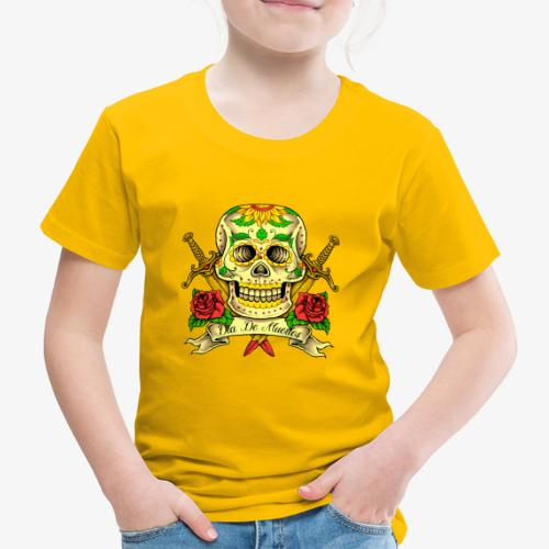 Schädel des Tages der Toten - Kinder Premium T-Shirt