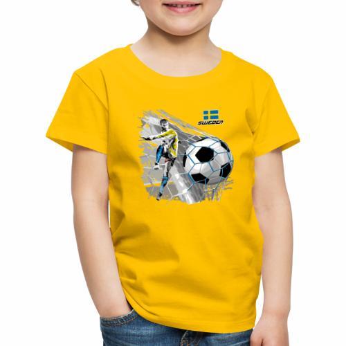 FP22F 16 SWEDEN FOOTBALL - Lasten premium t-paita