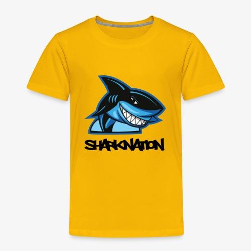 SHARKNATION / Black Letters - Kinder Premium T-Shirt
