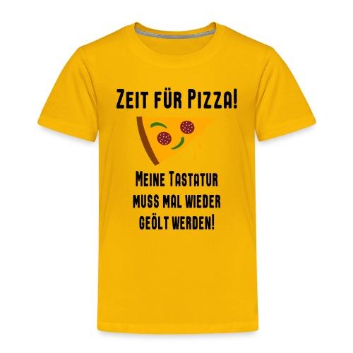 Pizza Essen Tastatur Computer Freak Nerd Spruch - Kinder Premium T-Shirt