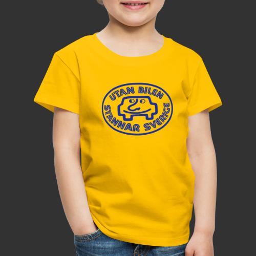 Utan bilen stannar Sverige blå - Premium-T-shirt barn