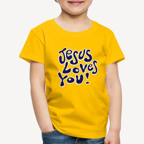 KID'S T-SHIRT - JESUS LOVES YOU - Kids' Premium T-Shirt