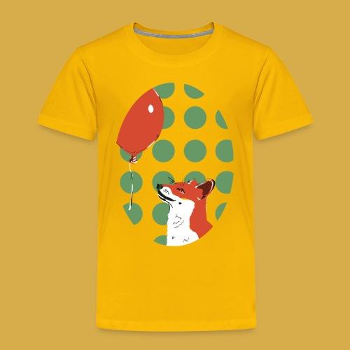 Fuchs und Luftballon - Kinder Premium T-Shirt