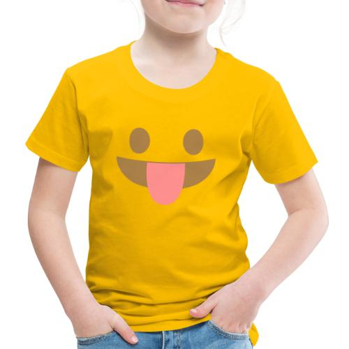 Emoji face with tongue out - Kids' Premium T-Shirt