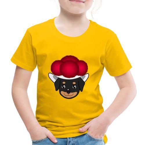 Baby-Rottweiler mit Bollenhut - Kinder Premium T-Shirt