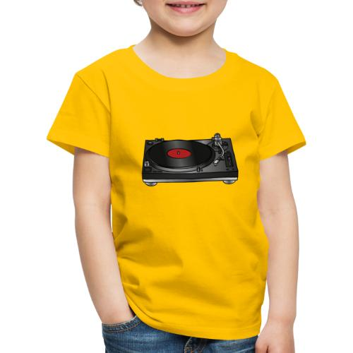 Plattenspieler VINYL - Kinder Premium T-Shirt