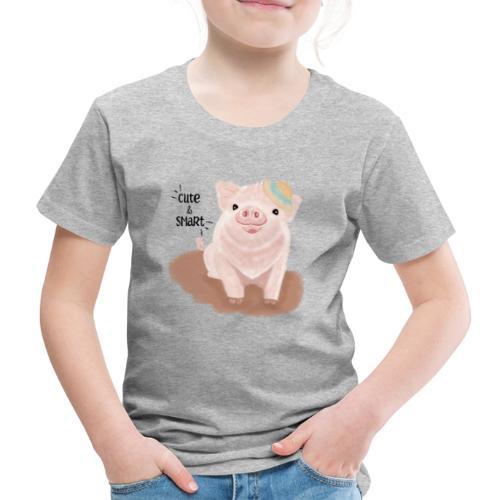 Cute & Smart Pig - Kids' Premium T-Shirt