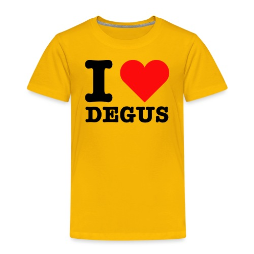 I Love Degus | Lustiger Spruch - Kinder Premium T-Shirt