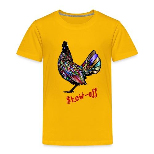 Bunter Hahn, auffälliger Vogel - Kinder Premium T-Shirt